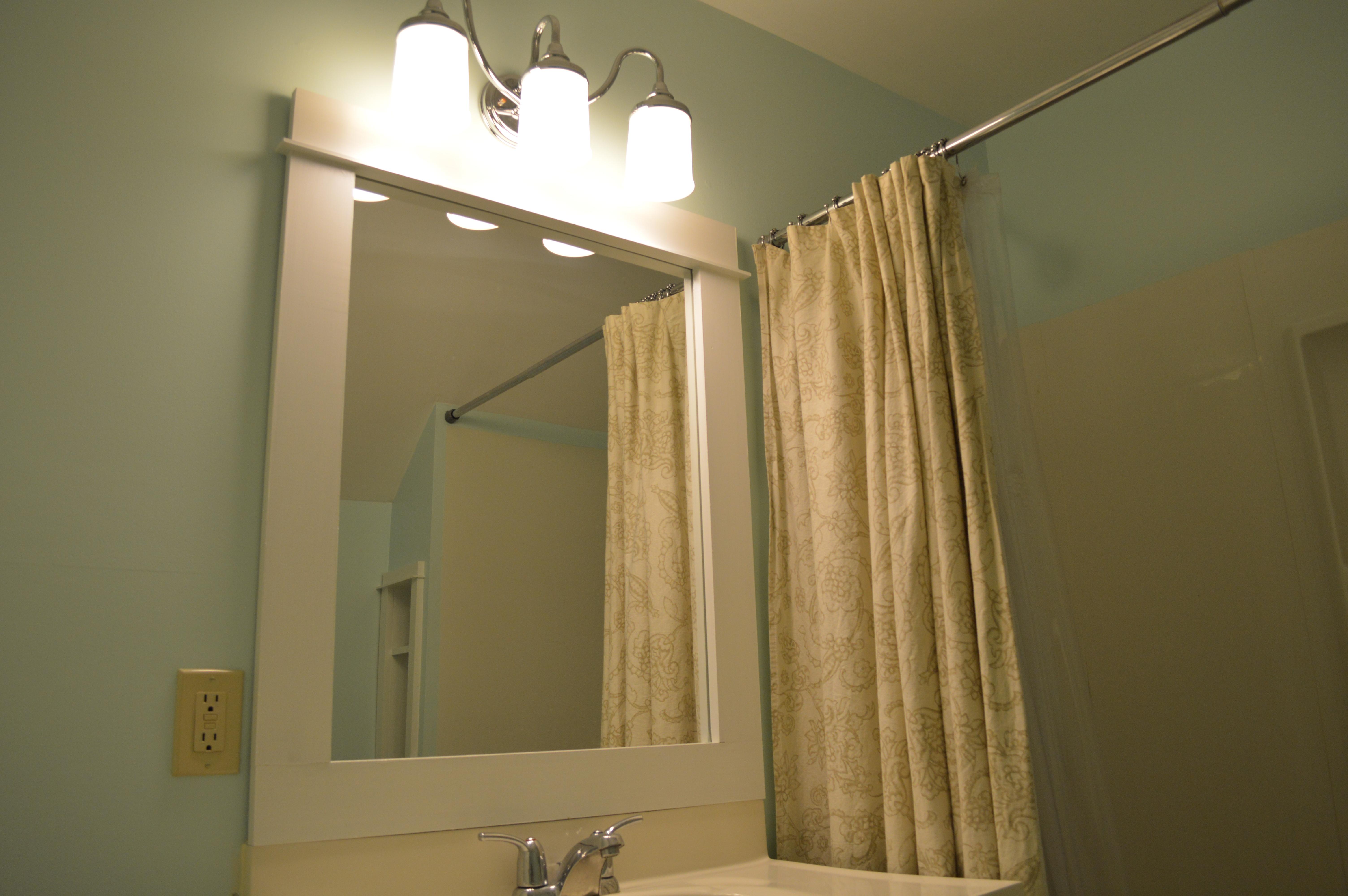 Framing a Bathroom Mirror | St. Paul Haus