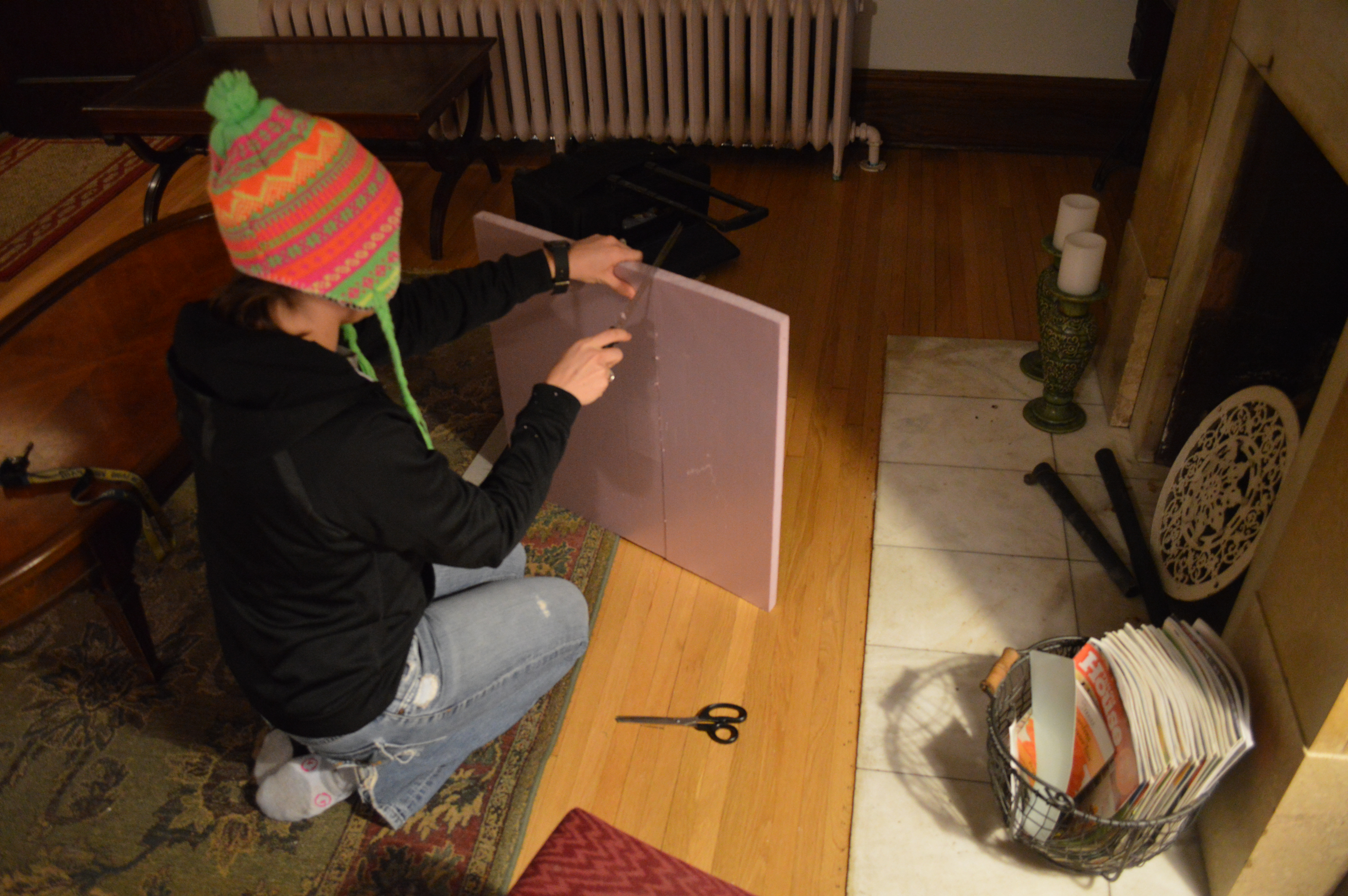 Sealing the Old Fireplace - St. Paul Haus